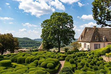 De tuinen van Marqueyssac in de Dordogne van Frankrijk Puur