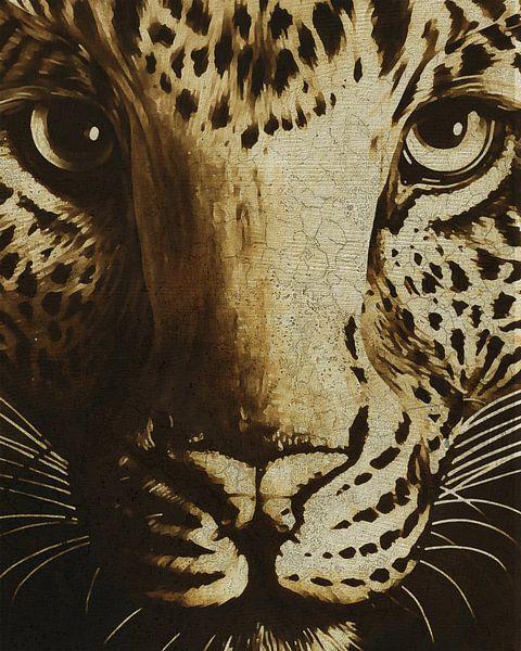 Portret van een jachtluipaard van Jan Keteleer