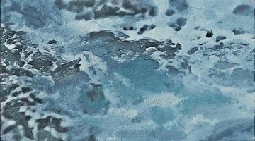 Abstrakt - Meer - Ozean - Wasser - Wild - Malerei von Schildersatelier van der Ven