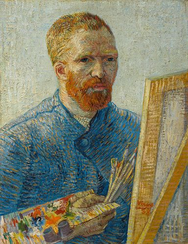 Schilderij Vincent van Gogh, Zelfportret als schilder