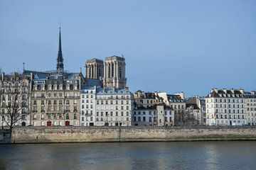 Parijs, Notre Dame vanaf de Seine von Patrick Verhoef