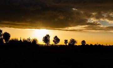 Polder zonsopkomst van Astrid Rotsteeg