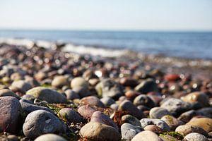 Pierres sur le rivage de la mer