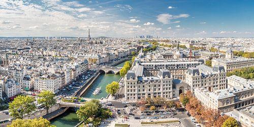 Blick von Notre Dame über Paris van