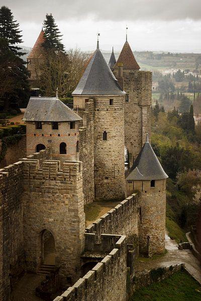 Towers of Carcassone, medieval city. van Luis Fernando Valdés Villarreal Boullosa