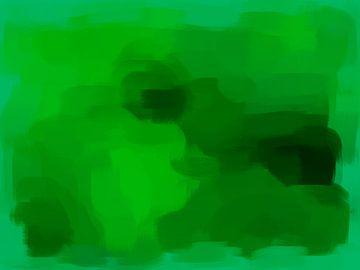Abstract in groene tinten