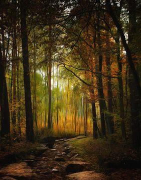 Farbenspiel des Herbstes van Gabriele Haase