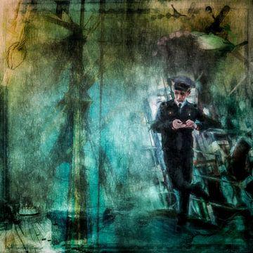 Denkend aan thuis - de eenzame zeeman van Annette Hanl