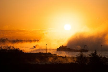 Mist op de Rijn