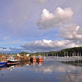 De haven van Tobermory, Isle of Mull (Schotland) van Greet ten Have-Bloem