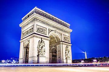 Arc de Triomphe 's nachts van Günter Albers