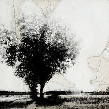 landschap onder destructie #01 van Peter Baak