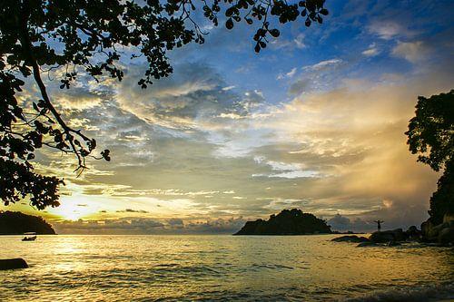 Zonsondergang op Pulau Pangkor, Maleisië