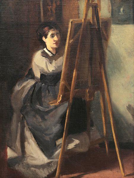 Die junge Studentin, Eva Gonzalès von Meesterlijcke Meesters