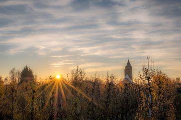 Zonsondergang bij Lienden von Moetwil en van Dijk - Fotografie