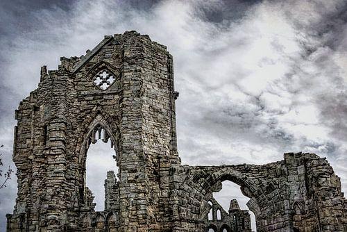 Ruïne van kathedraal van Whitby, North Yorkshire