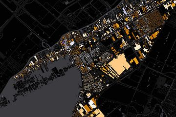 Kaart van Aalsmeer abstract sur Stef Verdonk