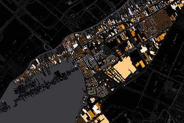 Kaart van Aalsmeer abstract van