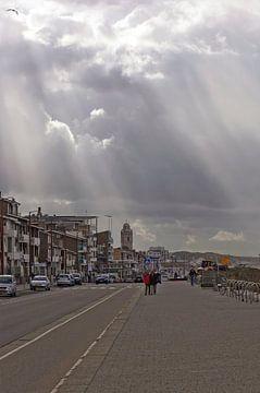 zonnestralen in katwijk van Dirk van Egmond