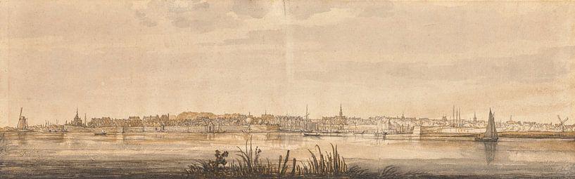 Panoramablick auf Dordrecht und den Fluss Maas, Aelbert Cuyp von Meesterlijcke Meesters