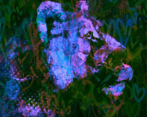 Löwen Love Pop Art PUR van Felix von Altersheim