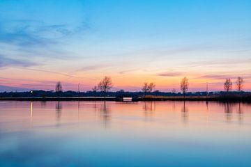 Sonnenuntergang am Teich von Foto Dani