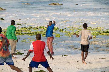 Voetballen op het strand van Herman van Ommen