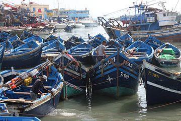 Vissersbootjes van Essaouira van Rob Hendriks