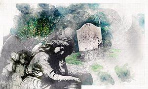 ange triste du cimetière pour la mémoire et le patrimoine