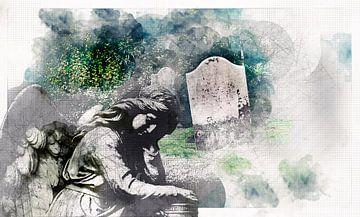 trauriger Friedhofsengel für Erinnerung und Erbe von Ariadna de Raadt