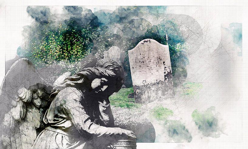 ange triste du cimetière pour la mémoire et le patrimoine sur Ariadna de Raadt-Goldberg