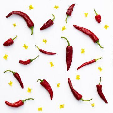 pepers en bloemetjes van Ronenvief