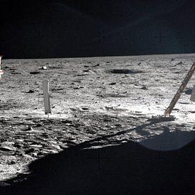 Neil Armstrong op de maan van Moondancer .