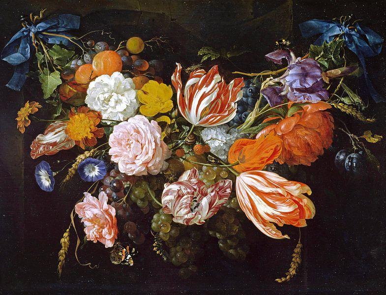 Gärtnerei von Blumen und Früchten, Jan Davidsz. de Heem von Meesterlijcke Meesters