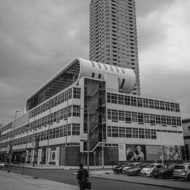 Rotterdam Street Photo black and White van Freddie de Roeck