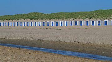 Texel Strandhuisje  sur Elfriede de Jonge Boeree