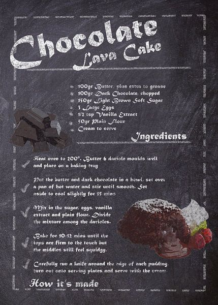 Recipe of Dessert - Lava cake van JayJay Artworks