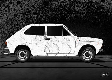 Fiat 127 in grafiet van aRi F. Huber
