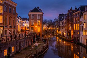 Utrecht in de avond