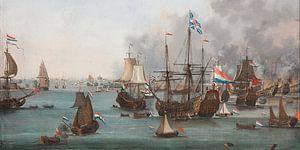 De slag bij Chatham (uitsnede), Willem van Der Stoop