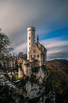Schloss oder Burg lichtenstein in einer Langzeitbelichtung von Fotos by Jan Wehnert