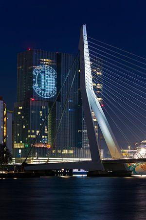 Feyenoord geprojecteerd op de Rotterdam