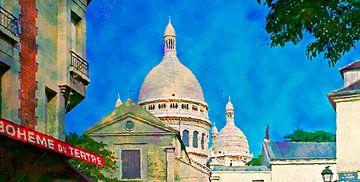 Sacre coeur and Montmartre van Leopold Brix