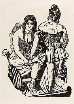 Bei der Toilette, MAX BECKMANN, 1923 von Atelier Liesjes