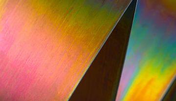 Photo abstraite détaillée du métal. sur Jeroen Cox