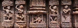 Vier antike Tänzer und Ganesha