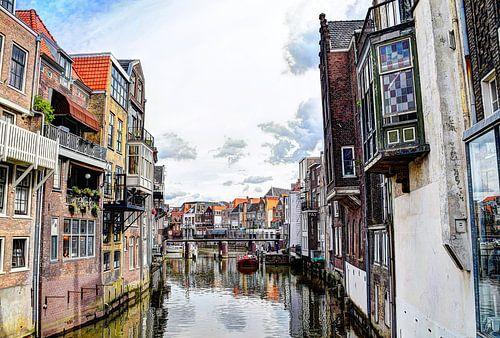 Dordrecht Wijnhaven vanaf Scheffersplein Nederland
