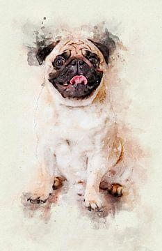 Mops Hund von Pictura Designs