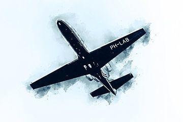 Forschungsflugzeug Cessna 550 (Kunst) von Art by Jeronimo