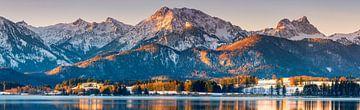 Panorama Hopfen am See, Allgäu, Bayern, Deutschland von Henk Meijer Photography